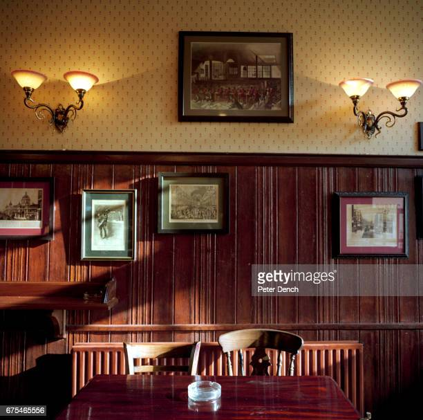 The back room of the Penny Black pub London popular with postal workers from the nearby Mount Pleasant Mail Centre March 2001