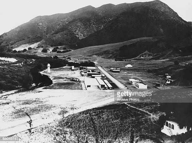 The backlot at Universal Studios California circa 1915