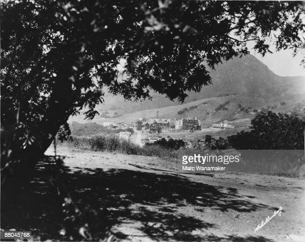The backlot at Universal Studios California during the filming of Erich von Stroheim's 'Foolish Wives' 1921