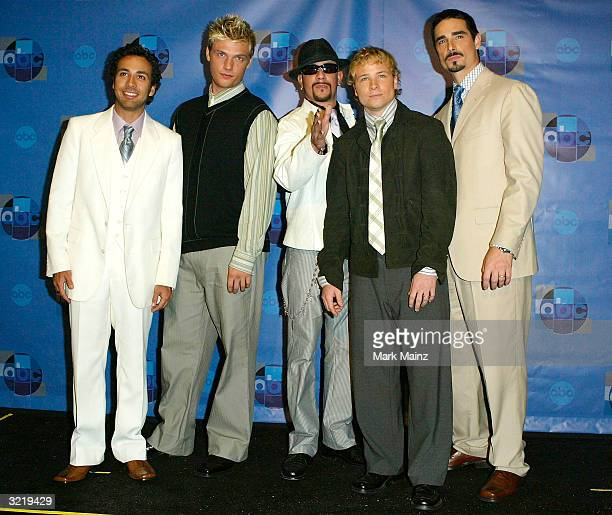 The Backstreet Boys attends the press room for Motown 45 a celebration of music that established the record label at the Shrine Auditorium April 4...