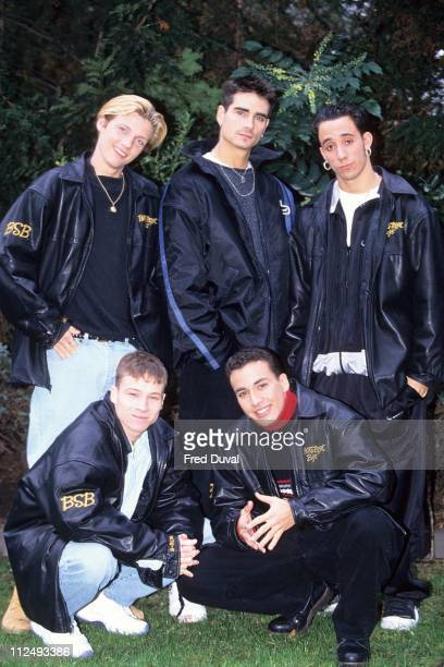 The Backstreet Boys during The Backstreet Boys in London February 1 1996 in London Great Britain