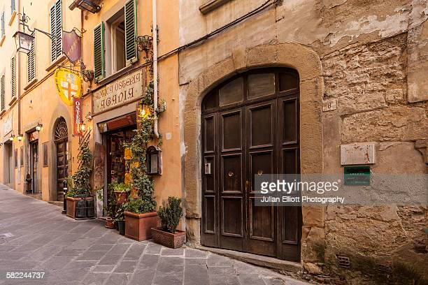 The backstreets of Arezzo, Tuscany, Italy.