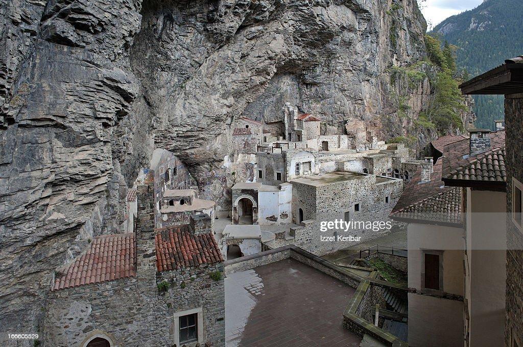 The backyard  of Sumela Monastery : Stock Photo