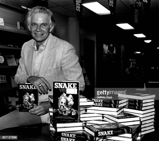 The bad quarterback of the Oakland Raiders came to town to autograph his new bood 'Snake' of his infamous life offAfield the football successes and...