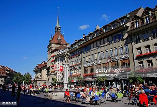 The Baerenplatz square in the old city of Bern Berne Switzerland
