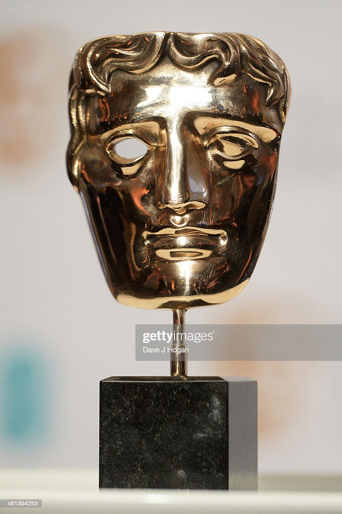 The BAFTA award is photographed at the nominations photocall for the EE British Academy Film Awards at BAFTA on January 8, 2014 in London, England.