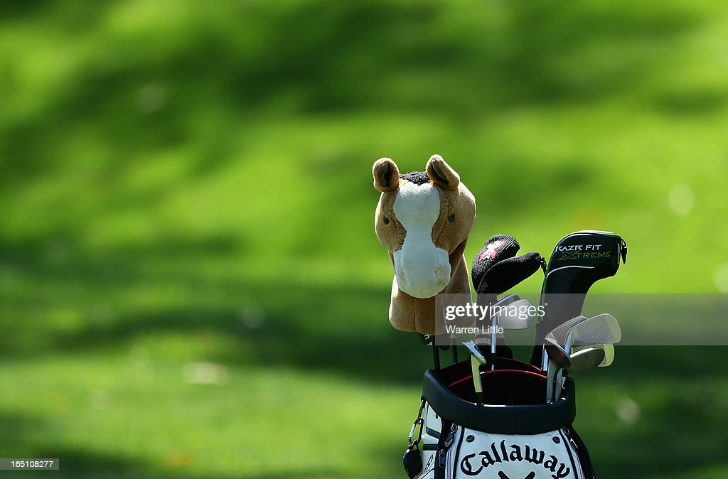 The bag of David Horsey of England is pictured during the third round of the Trophee du Hassan II at Golf du Palais Royal on March 30, 2013 in Agadir, Morocco.