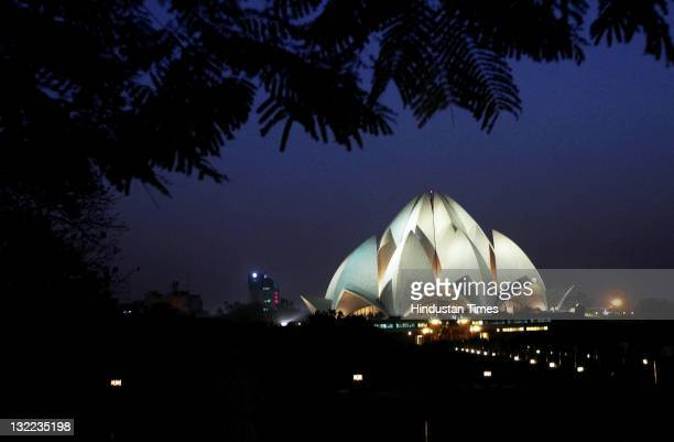 The Baha'i House of Worship popularly known as Lotus Temple on November 10 2011 in New Delhi India The temple will be commemorating its 25th...