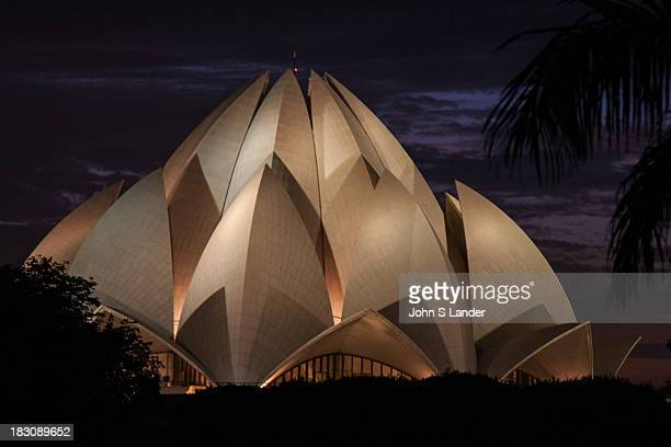 The Bahai Lotus Temple in Delhi is famous for its lotus shape thus its name The building is surrounded by 27 marble petals around its circumference...