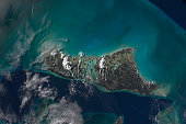 November 21, 2009 - The Bahamas' Andros Island and the Tongue of the Ocean. This scene from Earth orbit appears much more peaceful than earlier in the month, when Hurricane/Tropical Storm Ida was not