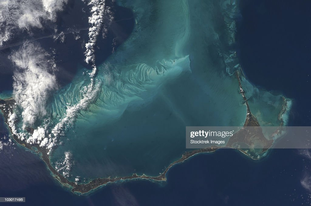 The Bahamas' lengthy narrow Eleuthra Island.