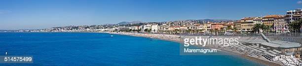 The Baie (bay) des Anges and the town