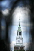 The Baker Hall clock tower stands on the campus of Dartmouth College the smallest school in the Ivy League in Hanover New Hampshire US on Tuesday...