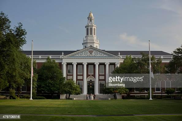 The Baker Library of the Harvard Business School stands on Harvard University campus in Cambridge Massachusetts US on Tuesday June 30 2015 Harvard...