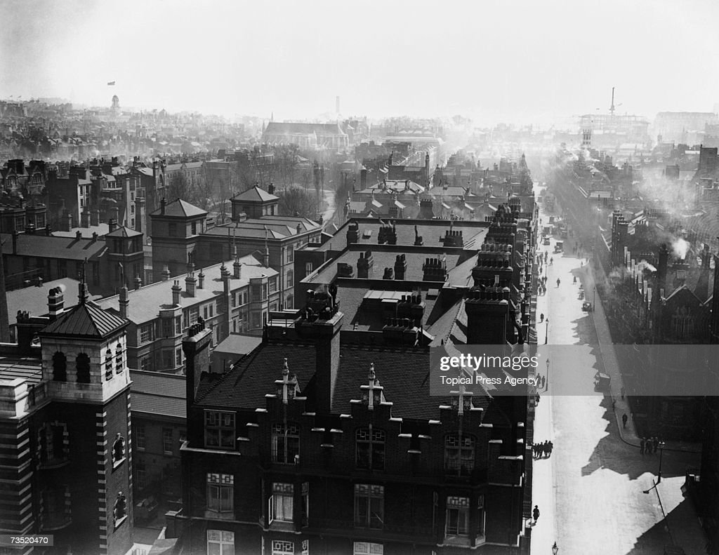 The Baker Street area of London as seen from the roof of Baker Street Station looking south 2nd May 1929