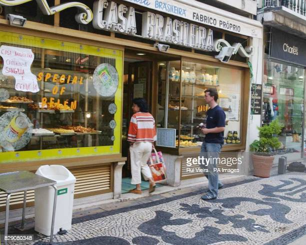 The bakery in Rua Augusta off Rossio Square in Lisbon outside which a British man was stabbed to death at around 4 am after England's victory over...