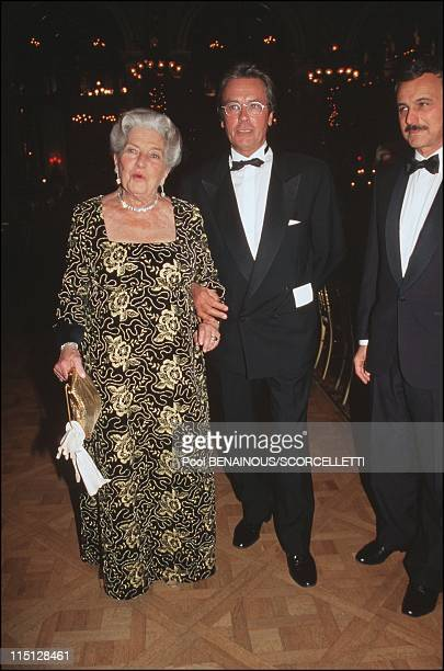 The 'Bal des Debutantes' in Paris France on October 18 1995 Isabelle of Orleans countess of Paris with Alain Delon