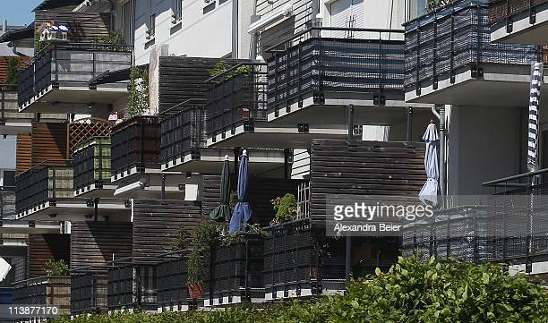 The balconies of an appartment building are pictured on May 9 2011 in Germering near Munich Germany Germany has launched its 2011 census nationwide...