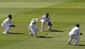 The ball drops short of second slip Younis Khan of Pakistan during day four of the 1st Investec Test match between England and Pakistan at Lords...