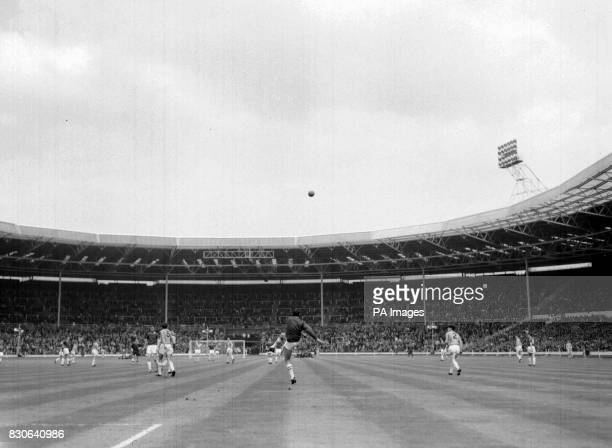 The ball is kicked from goal during the FA Amateur Cup final at Wembley Stadium London Final Score Wimbledon 4 Sutton United 2