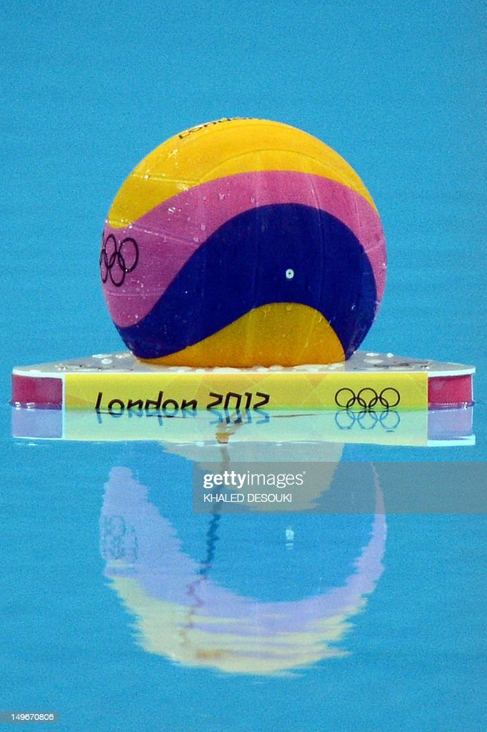 The ball is seen floating before the men's water Polo preliminary match between Australia and Spain on Day 6 of the London 2012 Olympic Games at Water Polo Arena on August 2, 2012 in London.