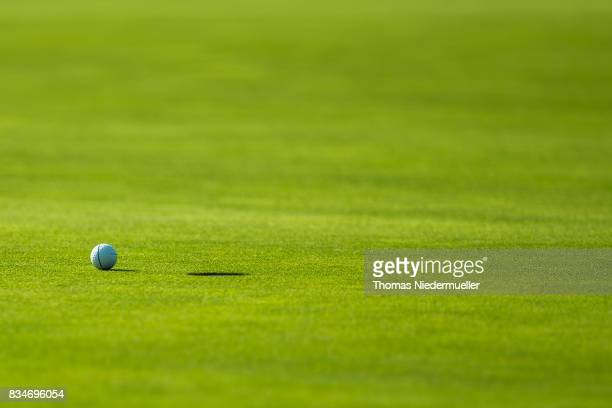 The ball is seen next to the hole during day two of the Saltire Energy Paul Lawrie Matchplay at Golf Resort Bad Griesbach on August 18 2017 in Passau...