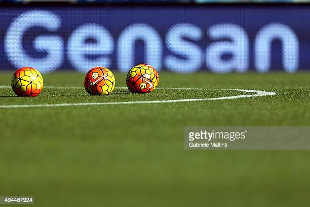 The ball of the match during the Serie A match between Empoli FC and Genoa CFC at Stadio Carlo Castellani on October 24 2015 in Empoli Italy