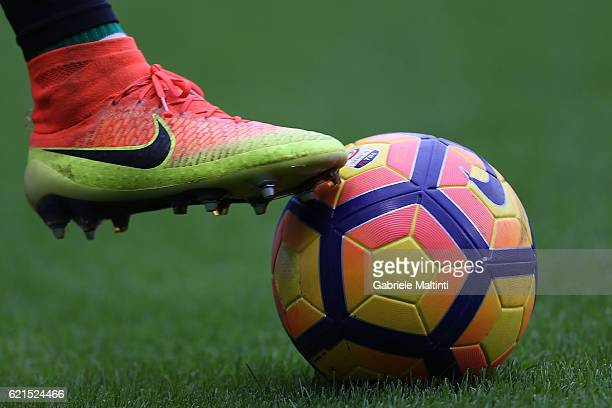 The ball of the match during the Serie A match between Genoa CFC and Udinese Calcio at Stadio Luigi Ferraris on November 6 2016 in Genoa Italy
