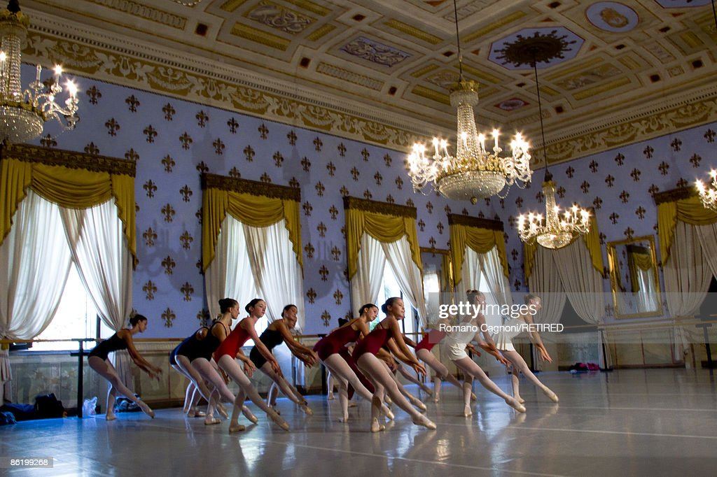 The ballet school in Bagni di Lucca, Tuscany, 27th August 2007. The building used to house the town's casino.