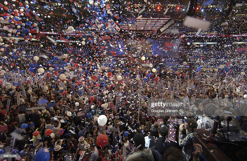 The balloon drop at the 2004 Democratic National Convention in Boston Massachusetts