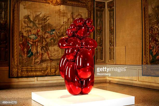 The Balloon Venus sculpture by Jeff Koons sits on display at the La Grande Madre exhibition in Milan Italy on Tuesday Aug 25 2015 Beatrice Trussardi...
