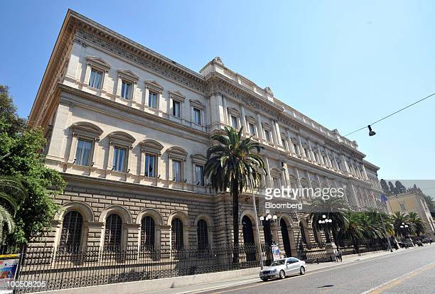 The Banca d'Italia stands in Rome Italy on Tuesday May 25 2010 Italian Prime Minister Silvio Berlusconi today will announce 24 billion euros in...