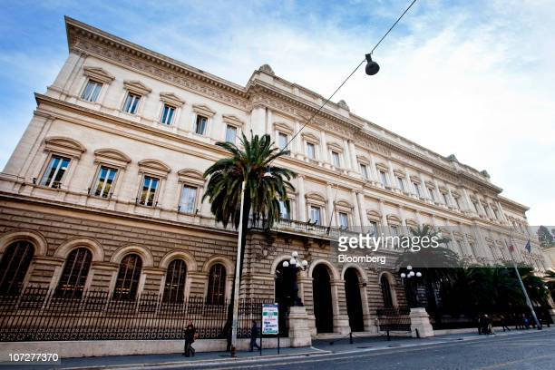 The Banca d'Italia the Italian central bank stands in Rome Italy on Thursday Dec2 2010 Italian banks are paying the price of the nation's debt the...