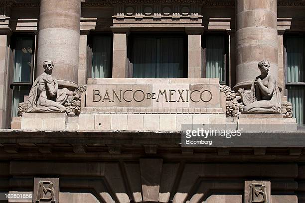 The Banco de Mexico building stands in Mexico City Mexico on Wednesday Feb 27 2013 The central bank's fivemember board is scheduled to announce its...