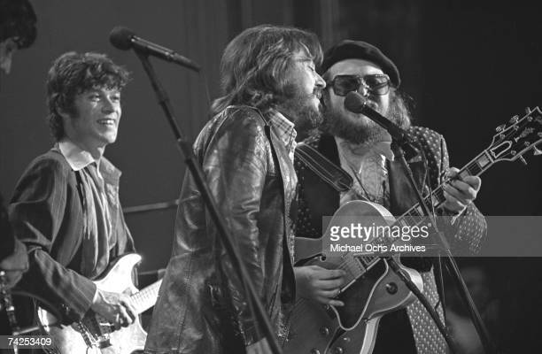 The Band and friends perform during The Last Waltz at Winterland Ballroom on November 25 1976 in San Francisco California