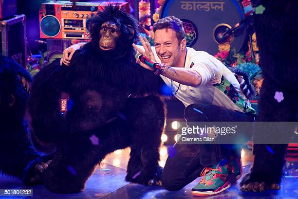 The band Coldplay with it's singer Chris Martin attend the TV show 'The Voice Of Germany Finals' on December 17 2015 in Berlin Germany