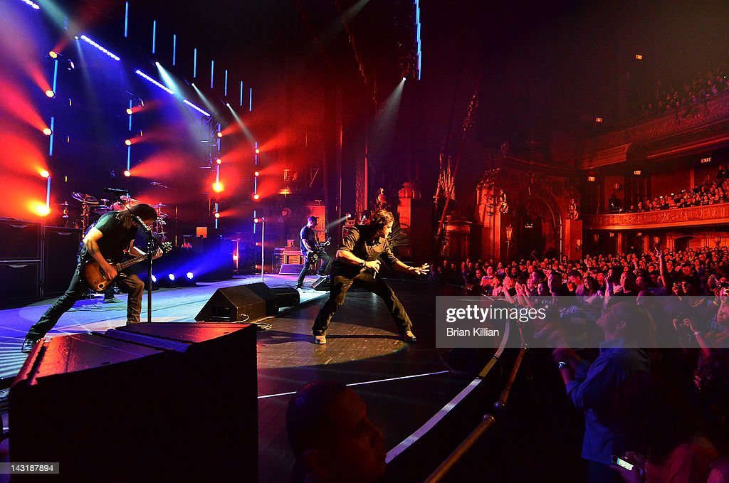 The band Creed performs at the Beacon Theatre on April 20, 2012 in New York City.