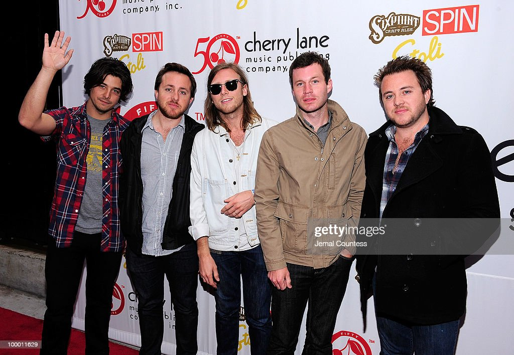 The band 'Delta Spirit' poses on the red carpet at the Cherry Lane Music Publishing's 50th Anniversary celebration at Brooklyn Bowl in Brooklyn on May 19, 2010 in New York City.