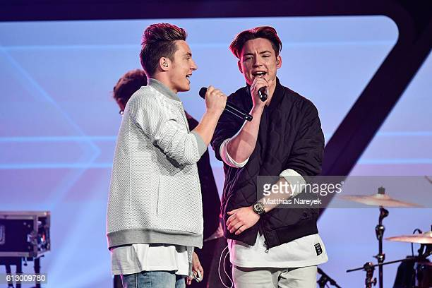 The band 'Die Lochis' performs during the Tribute To Bambi show at Station on October 6 2016 in Berlin Germany