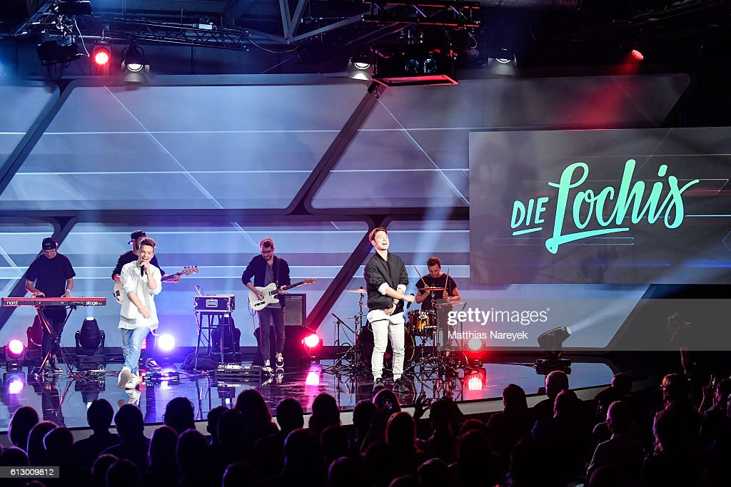 The band 'Die Lochis' performs during the Tribute To Bambi show at Station on October 6, 2016 in Berlin, Germany.