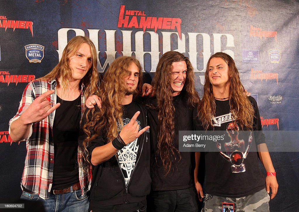 The band Dust Bolt arrives for the fifth Metal Hammer Awards at Kesselhaus on September 13, 2013 in Berlin, Germany. The annual prizes are given by Metal Hammer, a German music magazine specialized in Heavy Metal and Hard Rock.