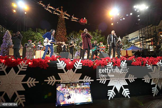 The band Earth Wind Fire performs at The Grove's 12th Annual Christmas Tree Lighting Spectacular Presented By Citi at The Grove on November 16 2014...