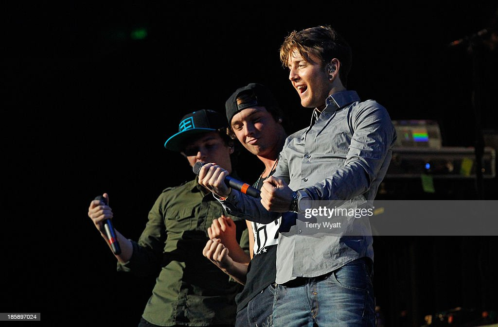 The Band Emblem 3 performs at the Bridgestone Arena on October 25, 2013 in Nashville, Tennessee.