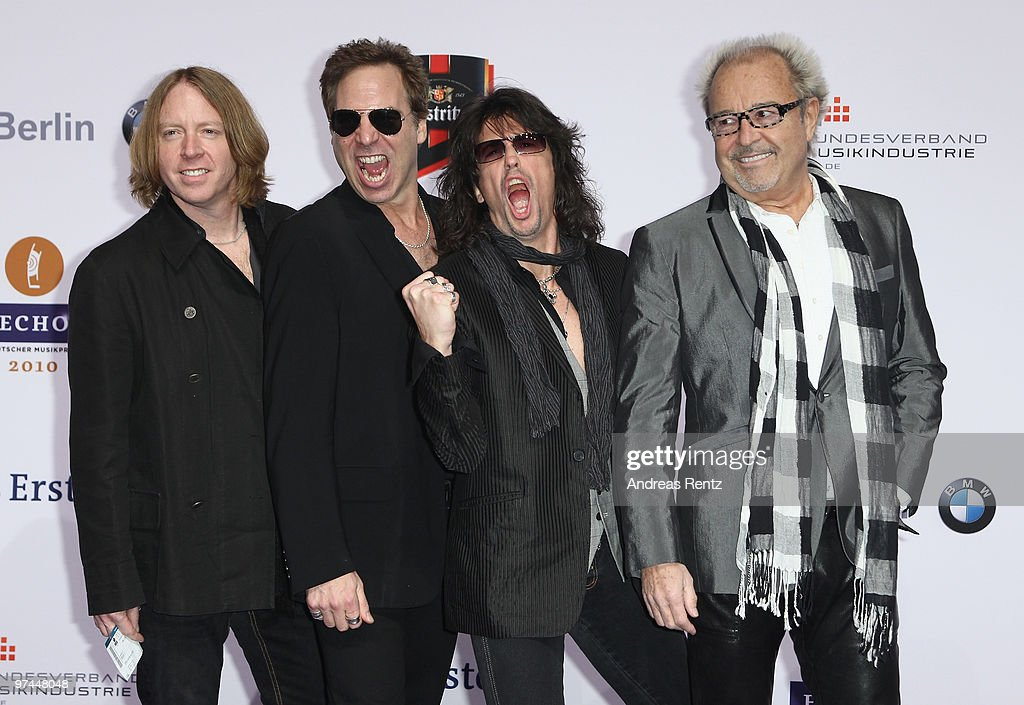 The band Foreigner arrive at the Echo award 2010 at Messe Berlin on March 4, 2010 in Berlin, Germany.