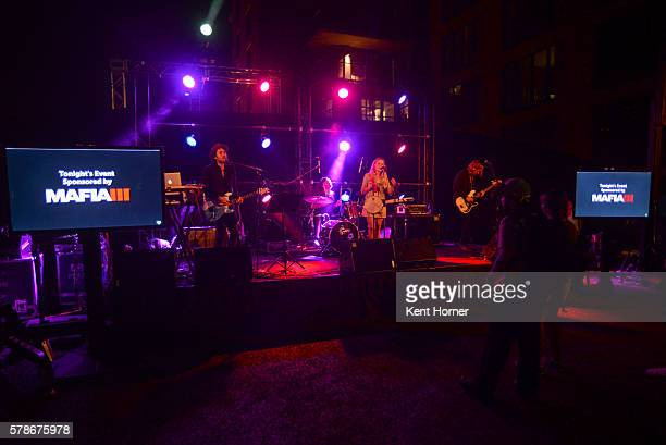 The band Freedom Fry performs onstage during the Fandom Powered by Wikia/ Mafia III Comic Con party at Float at Hard Rock Hotel San Diego on July 21...