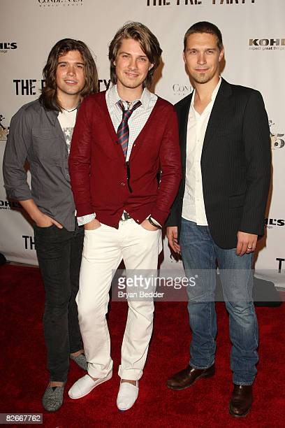 The band Hanson attend the Conde Nast 'Fashion Rocks' preparty at Mansion on September 4 2008 in New York City