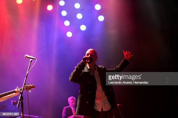 The band James performs at the stage during the Roxy Festival Guadalajara 2017 at Trasloma Park on April 01 2017 in Guadalajara Mexico