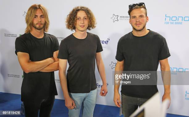 The Band Kaiser Franz Josef with Sham Tom and Can attend the Webvideopreis Deutschland 2017 at ISS Dome on June 1 2017 in Duesseldorf Germany
