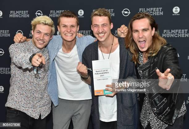 The band Killerpilze with Maximilian Schlichter Fabian Halbig director David Schlichter and Johannes Halbig received the Filmfest public award before...