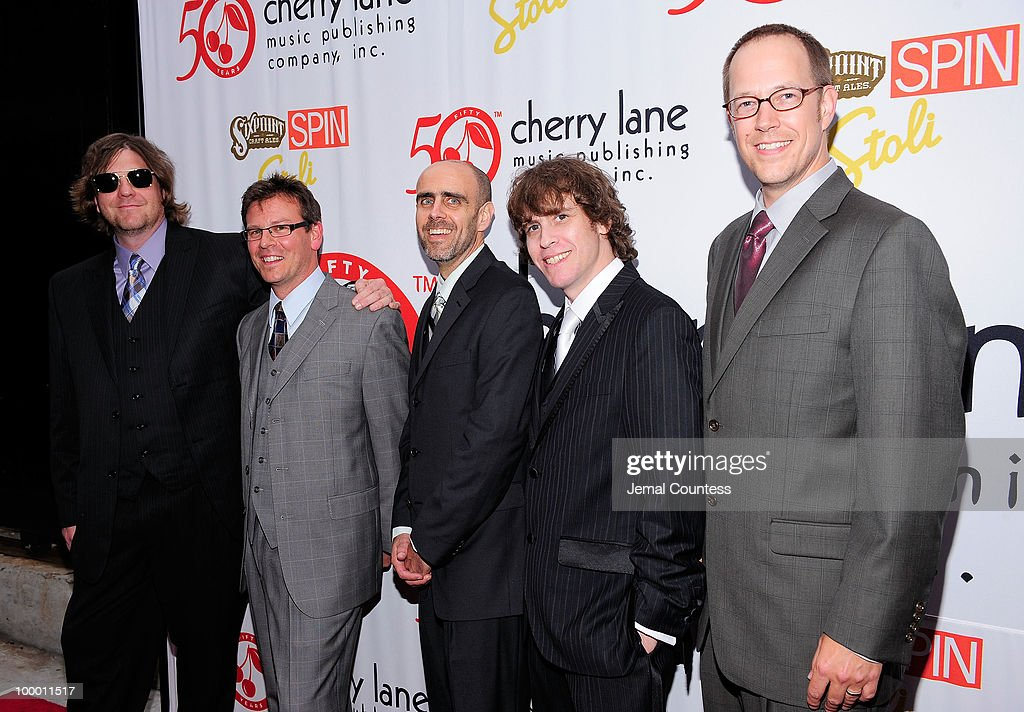 The band 'Moe' poses on the red carpet at the Cherry Lane Music Publishing's 50th Anniversary celebration at Brooklyn Bowl in Brooklyn on May 19, 2010 in New York City.